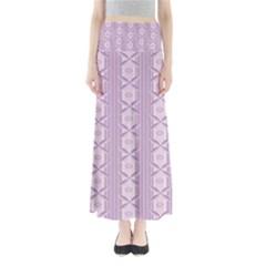 Flower Star Purple Maxi Skirts