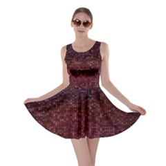 3d Tiny Dots Pattern Texture Skater Dress