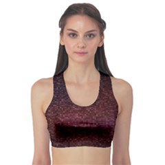 3d Tiny Dots Pattern Texture Sports Bra