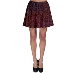 3d Tiny Dots Pattern Texture Skater Skirt
