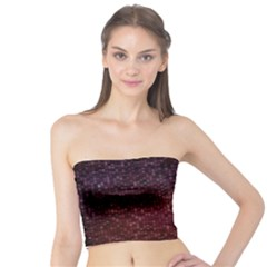 3d Tiny Dots Pattern Texture Tube Top