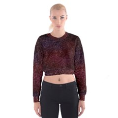 3d Tiny Dots Pattern Texture Women s Cropped Sweatshirt