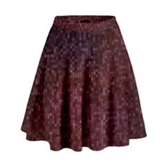 3d Tiny Dots Pattern Texture High Waist Skirt