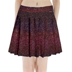 3d Tiny Dots Pattern Texture Pleated Mini Skirt