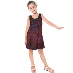 3d Tiny Dots Pattern Texture Kids  Sleeveless Dress