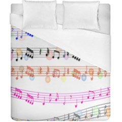 Notes Tone Music Rainbow Color Black Orange Pink Grey Duvet Cover (california King Size)