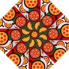 Pizza Italia Beef Flag Folding Umbrellas