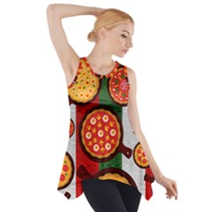 Pizza Italia Beef Flag Side Drop Tank Tunic