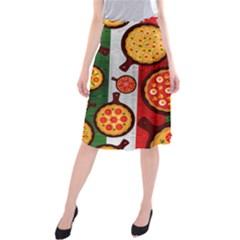 Pizza Italia Beef Flag Midi Beach Skirt