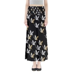 Goose Swan Gold White Black Fly Maxi Skirts