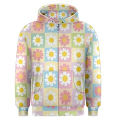 Season Flower Sunflower Blue Yellow Purple Pink Men s Zipper Hoodie