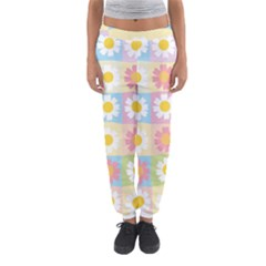 Season Flower Sunflower Blue Yellow Purple Pink Women s Jogger Sweatpants