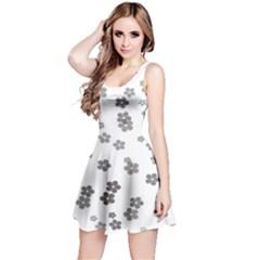 Flower Grey Jpeg Reversible Sleeveless Dress