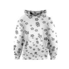 Flower Grey Jpeg Kids  Pullover Hoodie