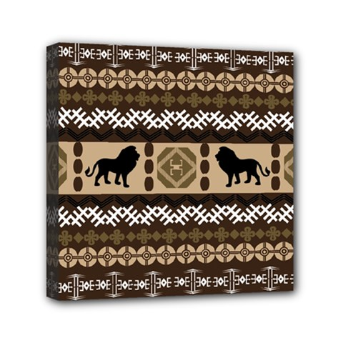 African Vector Patterns  Mini Canvas 6  X 6