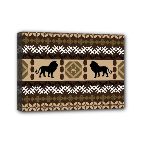 African Vector Patterns  Mini Canvas 7  X 5