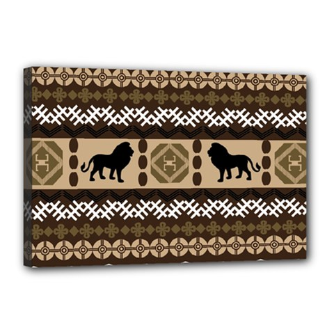 African Vector Patterns  Canvas 18  X 12