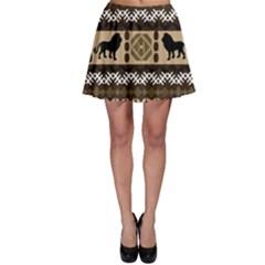 African Vector Patterns  Skater Skirt
