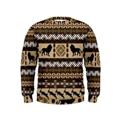 African Vector Patterns  Kids  Sweatshirt