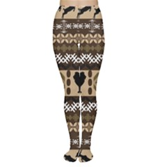 African Vector Patterns  Women s Tights