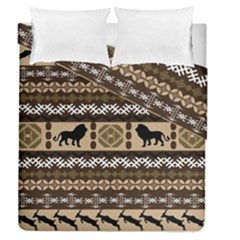 African Vector Patterns  Duvet Cover Double Side (queen Size)