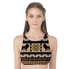 African Vector Patterns  Tank Bikini Top