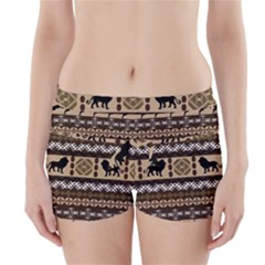 African Vector Patterns  Boyleg Bikini Wrap Bottoms