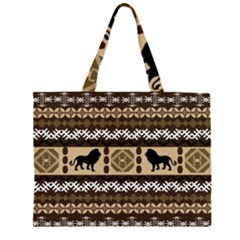 African Vector Patterns  Large Tote Bag