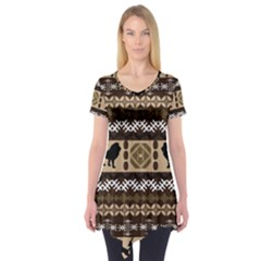 African Vector Patterns  Short Sleeve Tunic