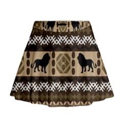 African Vector Patterns  Mini Flare Skirt