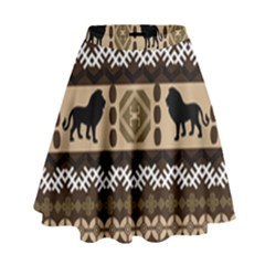 African Vector Patterns  High Waist Skirt
