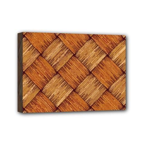 Vector Square Texture Pattern Mini Canvas 7  X 5