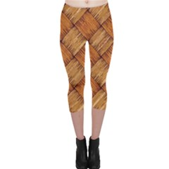 Vector Square Texture Pattern Capri Leggings