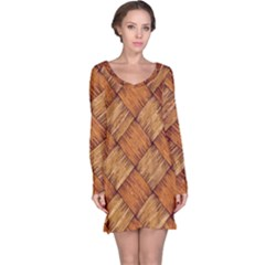 Vector Square Texture Pattern Long Sleeve Nightdress