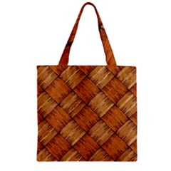 Vector Square Texture Pattern Zipper Grocery Tote Bag