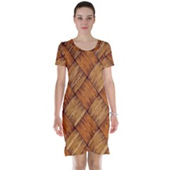 Vector Square Texture Pattern Short Sleeve Nightdress