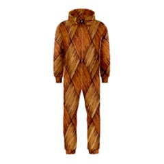Vector Square Texture Pattern Hooded Jumpsuit (Kids)
