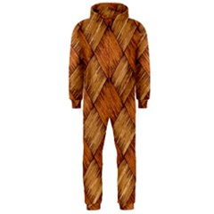 Vector Square Texture Pattern Hooded Jumpsuit (men)