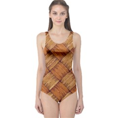 Vector Square Texture Pattern One Piece Swimsuit