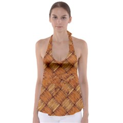 Vector Square Texture Pattern Babydoll Tankini Top