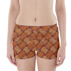 Vector Square Texture Pattern Boyleg Bikini Wrap Bottoms
