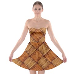 Vector Square Texture Pattern Strapless Bra Top Dress