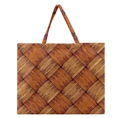 Vector Square Texture Pattern Zipper Large Tote Bag