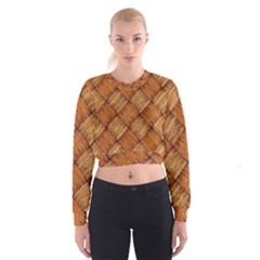 Vector Square Texture Pattern Women s Cropped Sweatshirt