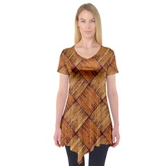 Vector Square Texture Pattern Short Sleeve Tunic