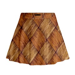 Vector Square Texture Pattern Mini Flare Skirt