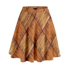 Vector Square Texture Pattern High Waist Skirt