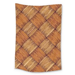 Vector Square Texture Pattern Large Tapestry
