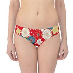 Season Flower Rose Sunflower Red Green Blue Hipster Bikini Bottoms
