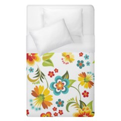 Flower Floral Rose Sunflower Leaf Color Duvet Cover (single Size)